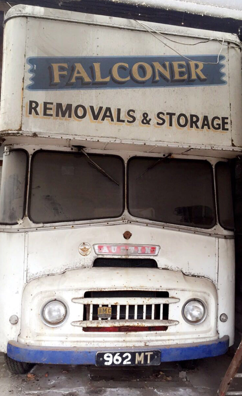 old austin falconer removals lorry history